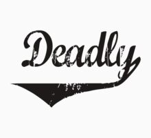 Deadly black [-0-] Kids Tee