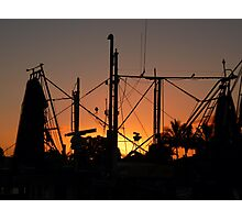 Prawn fleet dawn 2......... Tweed Heads Photographic Print