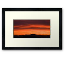 Sunset over Ljubljana suburb Framed Print