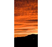 Sunset over suburb of Ljubljana Photographic Print