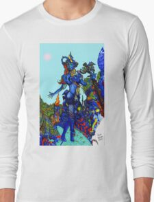 """""""Cyberian"""" Android Goddess MIX 1 Long Sleeve T-Shirt"""