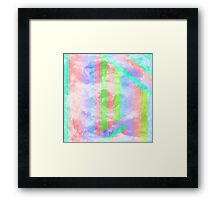 Watercolor and lines Framed Print