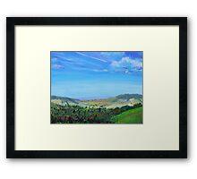 Devon Countryside Painting Framed Print