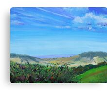 Devon Countryside Painting Canvas Print