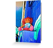 Back Alley Fuse Boxing Doll Greeting Card