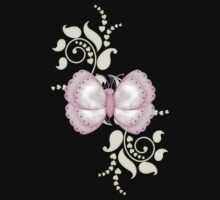 Pink Butterfly .. a cute tee by LoneAngel