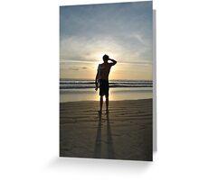 Surf Check  Greeting Card