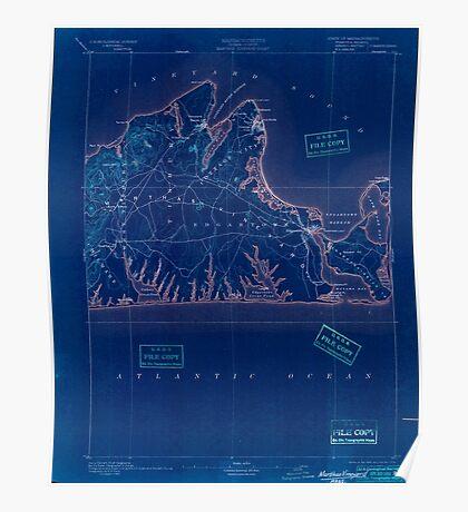 Massachusetts  USGS Historical Topo Map MA Marthas Vineyard 352838 1894 62500 Inverted Poster