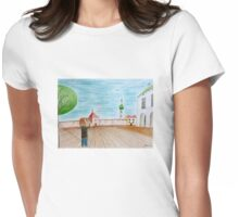 Flying plane Womens Fitted T-Shirt