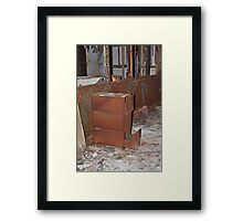 Rusty file cabinet Framed Print