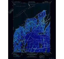 Massachusetts  USGS Historical Topo Map MA Vineyard Haven 352286 1951 31680 Inverted Photographic Print