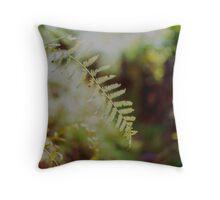 Leafy Bokeh Throw Pillow