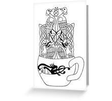 Celtic Coffee Greeting Card