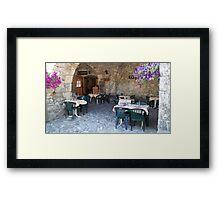Rustic restaurant  Framed Print