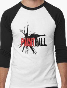 Paintball Red-Black Men's Baseball ¾ T-Shirt