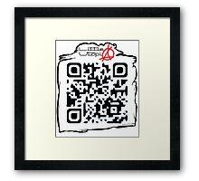 Little Utopia QR Code Framed Print