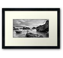 broadsands rocks Framed Print