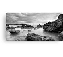 broadsands rocks Canvas Print