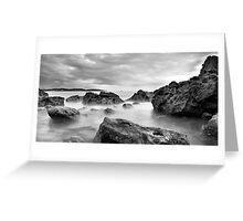 broadsands rocks Greeting Card