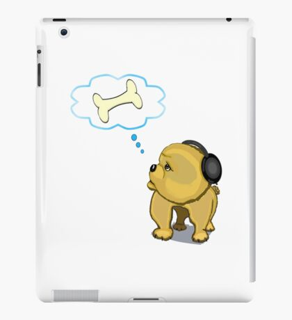 Snooze with headphones iPad Case/Skin