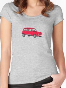 Renault 4 GTL Red Women's Fitted Scoop T-Shirt