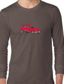 Renault 4 GTL Red Long Sleeve T-Shirt