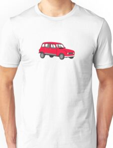 Renault 4 GTL Red Unisex T-Shirt
