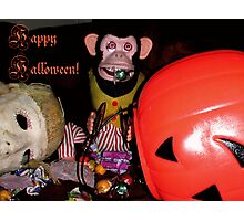 Happy Halloween from Musical Jolly Chimp Photographic Print