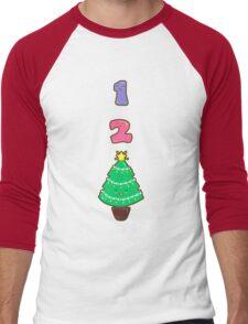 Count to Christmas Men's Baseball ¾ T-Shirt