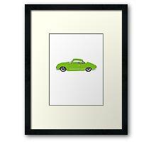Green Karmann Ghia Tshirt Framed Print