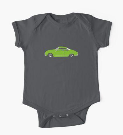 Green Karmann Ghia Tshirt One Piece - Short Sleeve