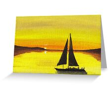 Sunset Sail ~ Beautiful Evening for sailing Greeting Card