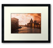 Dawn in Venice Framed Print