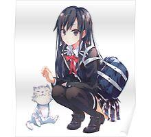 yukinon and cat Poster