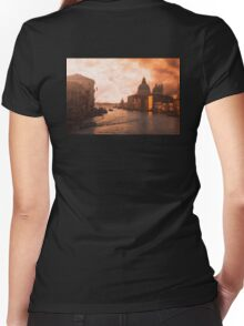 Dawn in Venice Women's Fitted V-Neck T-Shirt