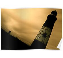 Spurn Point Lighthouse Gothic Poster