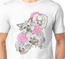 Chinese Crested and Powder Puff Unisex T-Shirt
