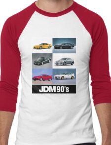 JDM 1990 Men's Baseball ¾ T-Shirt