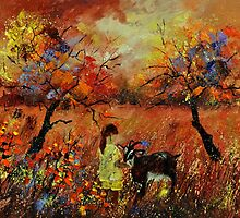 meeting in an orchard by calimero