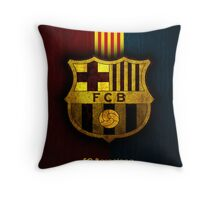 FC Barcelona Crest Throw Pillow