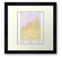 Massachusetts  USGS Historical Topo Map MA Vineyard Haven 351379 1972 25000 Framed Print