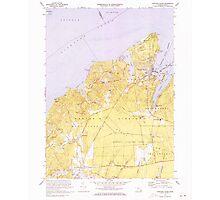Massachusetts  USGS Historical Topo Map MA Vineyard Haven 351379 1972 25000 Photographic Print