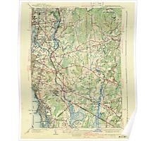 Massachusetts  USGS Historical Topo Map MA East Providence 351653 1941 31680 Poster