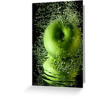Apple of My Eye Out for a Swim Greeting Card
