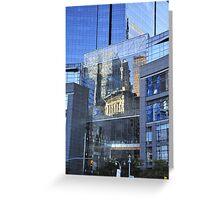 Columbus Circle Reflections Greeting Card