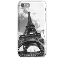 Black eiffel tower iPhone Case/Skin