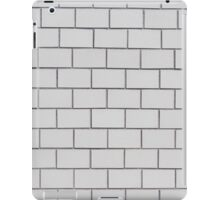 white pattern - brick wall texture  iPad Case/Skin
