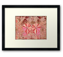 Happy and Healthy and Pink Framed Print