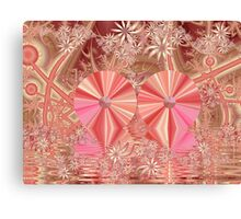 Happy and Healthy and Pink Canvas Print
