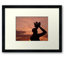 Prince Hal and the Sunset Framed Print
